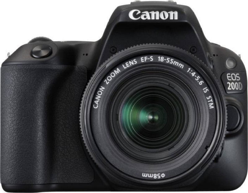 Canon EOS 200D DSLR Camera Body with Single Lens: EF-S18-55 IS STM (16 GB SD Card + Camera Bag)(Black) 1
