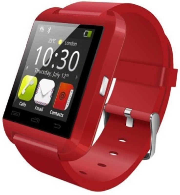 Aomax Bluetooth U8 Watch Red Smartwatch(Red Strap Regular) 1