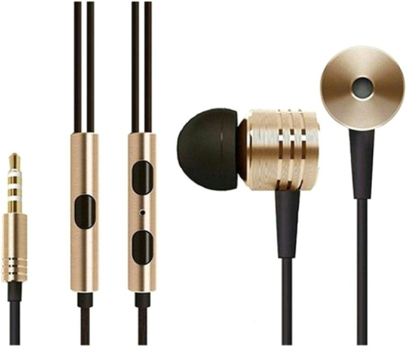 Denis Piston Wired Headset with Mic(Gold, In the Ear) 1