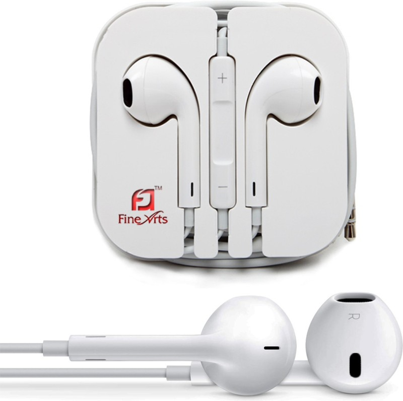 FineArts FEPWHITE001 Wired Headset with Mic(White, In the Ear) 1