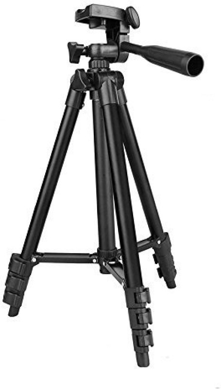 JOKIN Foldable Camera Tripod with Mobile Clip Holder Bracket, Fully Flexible Mount Cum Tripod, Stand with 3D Head & Quick Release Plate, Tripod Camera Stand Tripod(Black, Supports Up to 500 g) 1