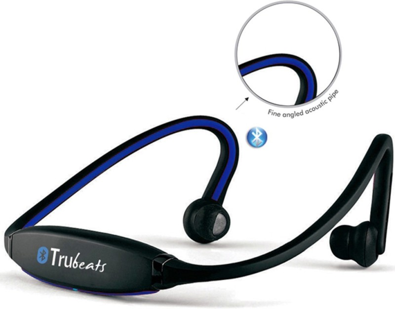 Medulla MED128 Trubeats Air BT Wireless Behind the Neck Headset Bluetooth Headset with Mic(Blue, Over the Ear) 1