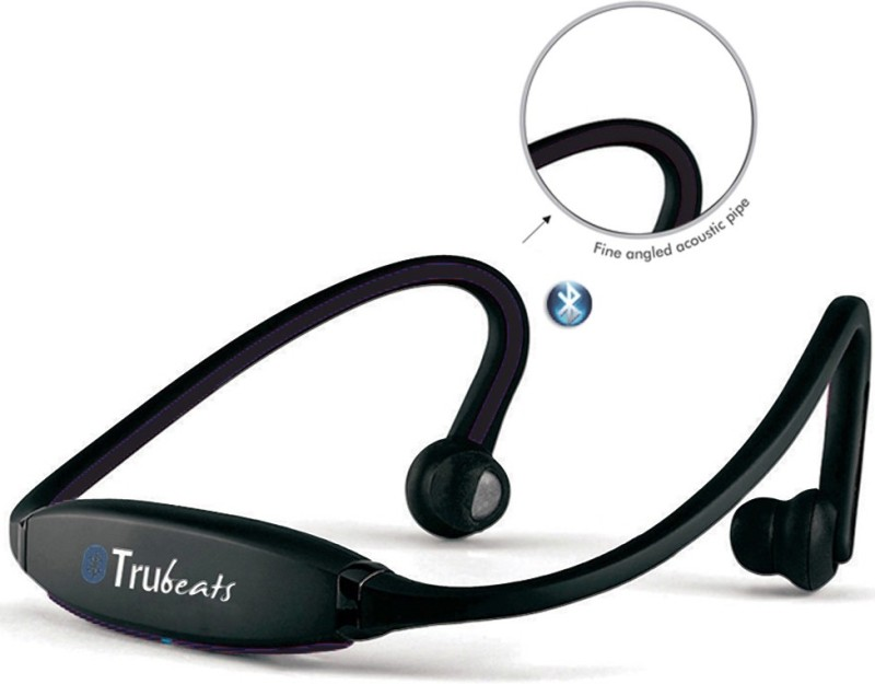 Medulla MED372 Trubeats Air BT Wireless Behind the Neck Headset Bluetooth Headset with Mic(Black, Over the Ear) 1
