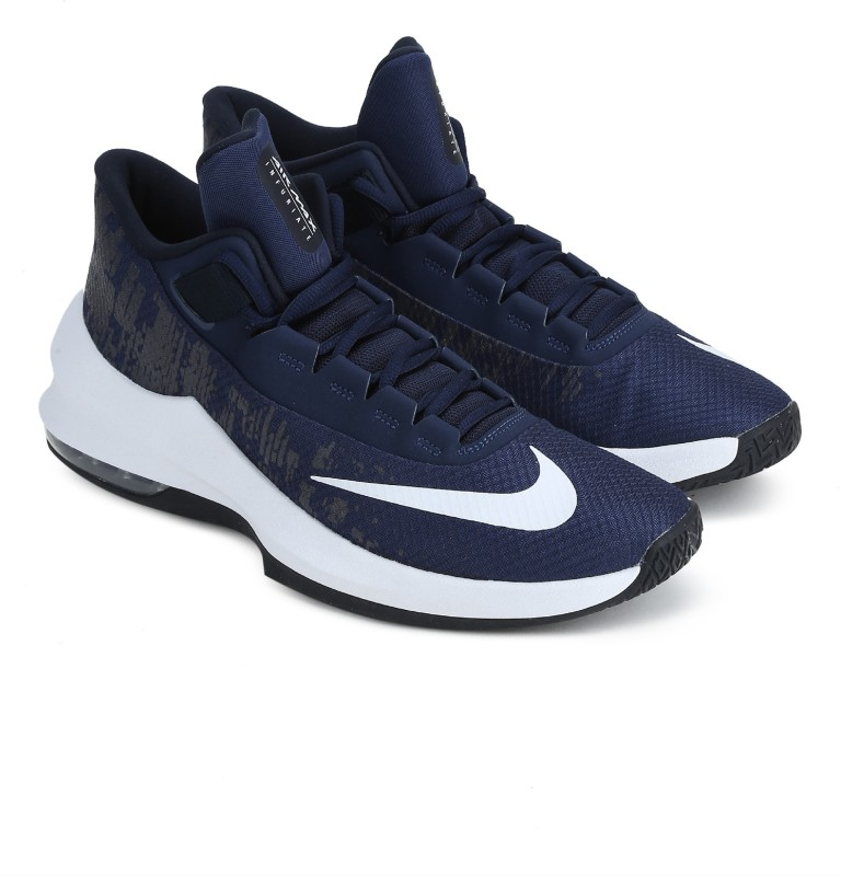 Nike AIR MAX INFURIATE 2 MID Basketball Shoes For Men(Blue) 1