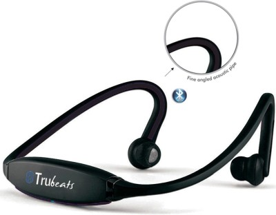 Medulla MED122 Trubeats Air BT Wireless Behind the Neck Headset Bluetooth Headset with Mic(Black, Over the Ear) 1