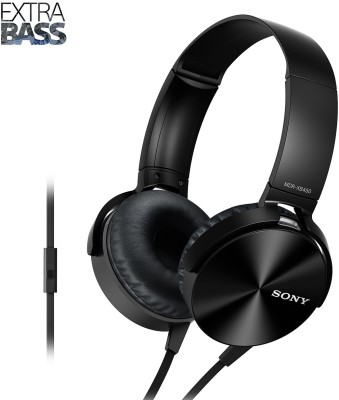 Sony XB450AP Wired Headset with Mic(Black, On the Ear) 1